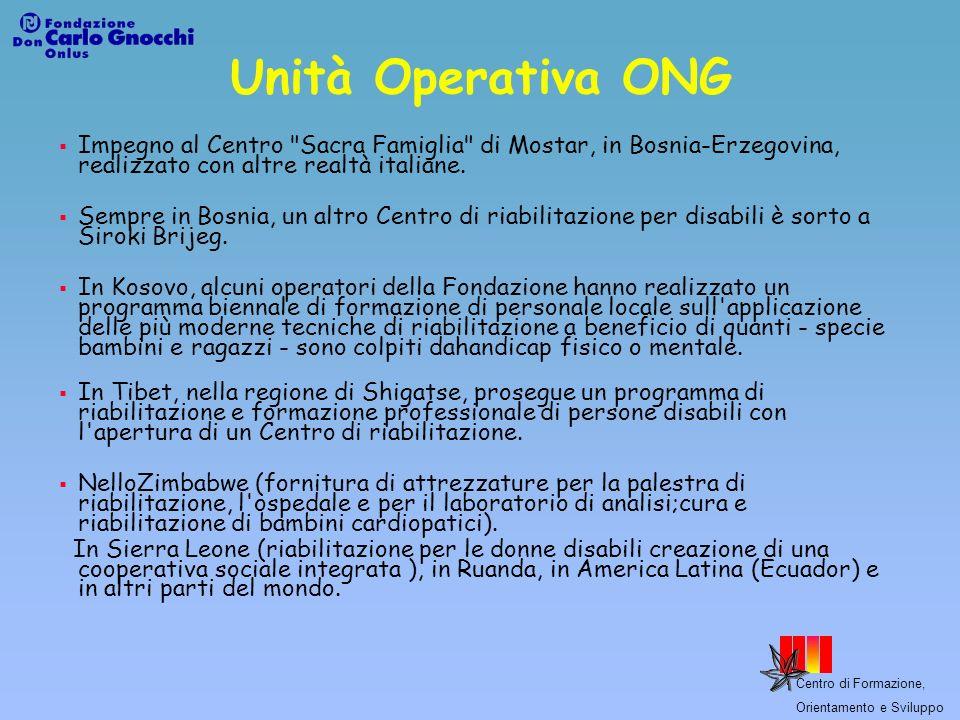 Unità Operativa ONG Impegno al Centro Sacra Famiglia di Mostar, in Bosnia-Erzegovina, realizzato con altre realtà italiane.