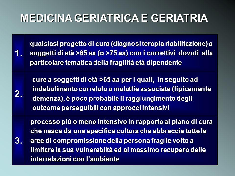 MEDICINA GERIATRICA E GERIATRIA