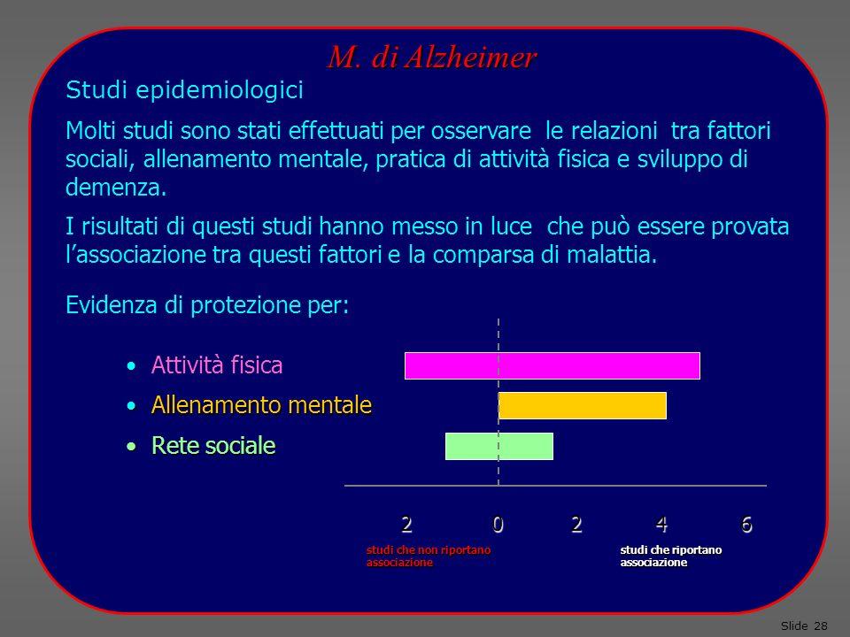 M. di Alzheimer Studi epidemiologici