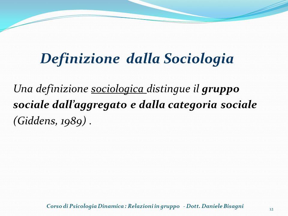Definizione dalla Sociologia