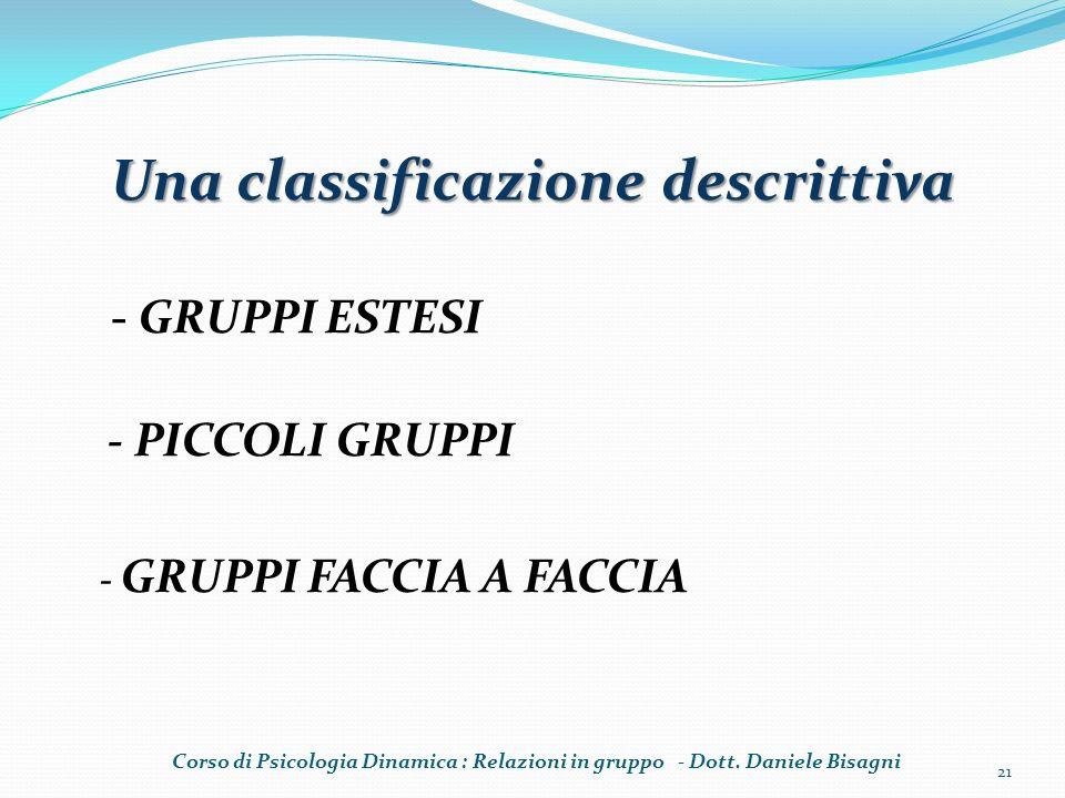 Una classificazione descrittiva