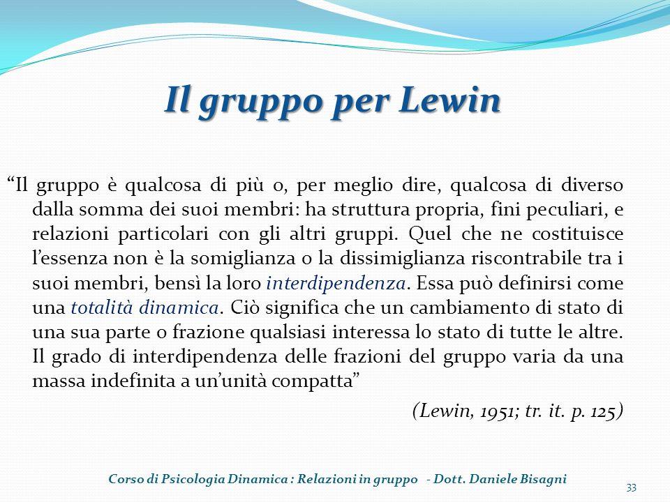 Il gruppo per Lewin