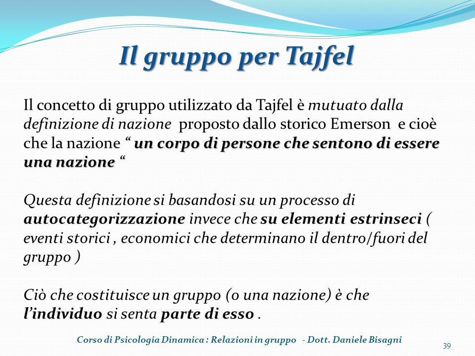 Il gruppo per Tajfel
