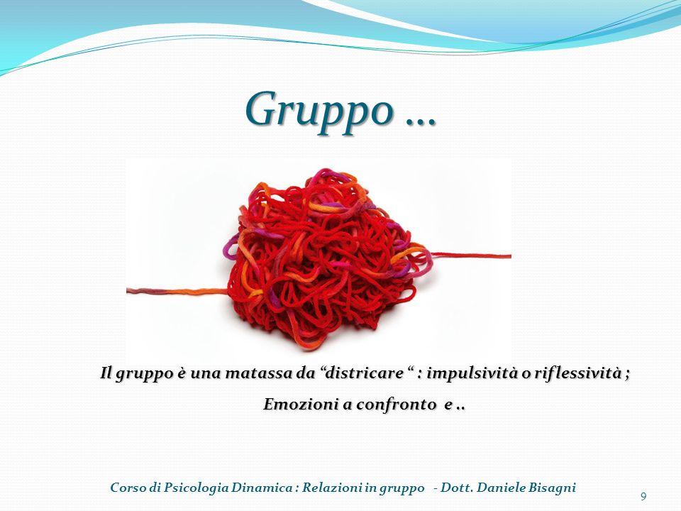 Gruppo … Il gruppo è una matassa da districare : impulsività o riflessività ; Emozioni a confronto e ..