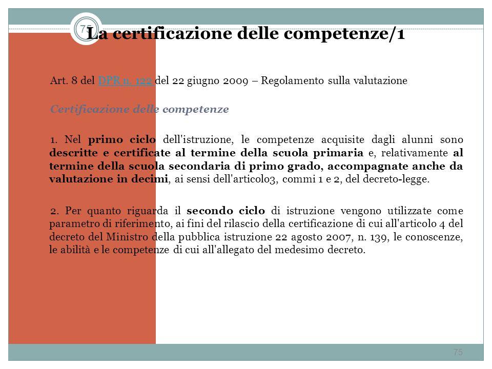 La certificazione delle competenze/1