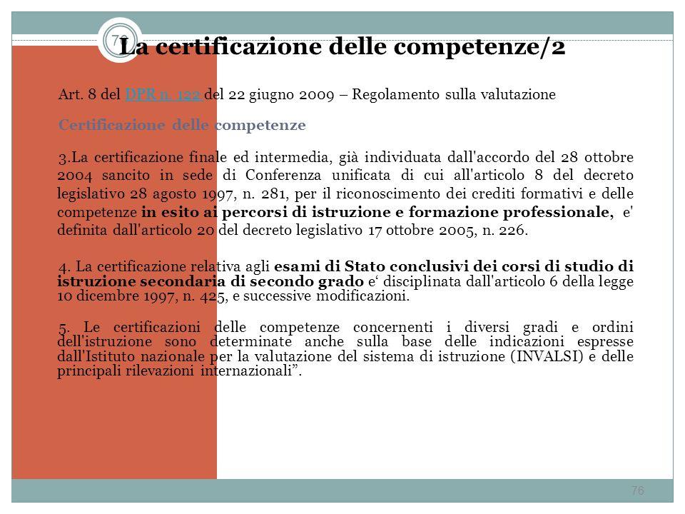 La certificazione delle competenze/2