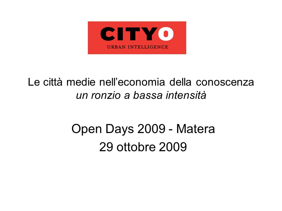 Open Days 2009 - Matera 29 ottobre 2009