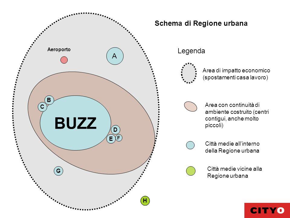 BUZZ Schema di Regione urbana Legenda A Area di impatto economico