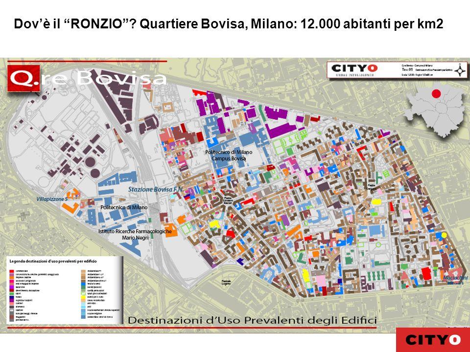 Dov'è il RONZIO Quartiere Bovisa, Milano: 12.000 abitanti per km2