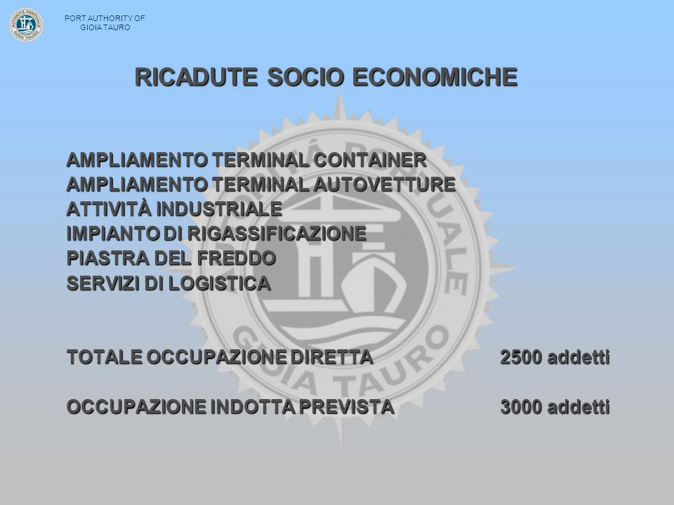 RICADUTE SOCIO ECONOMICHE