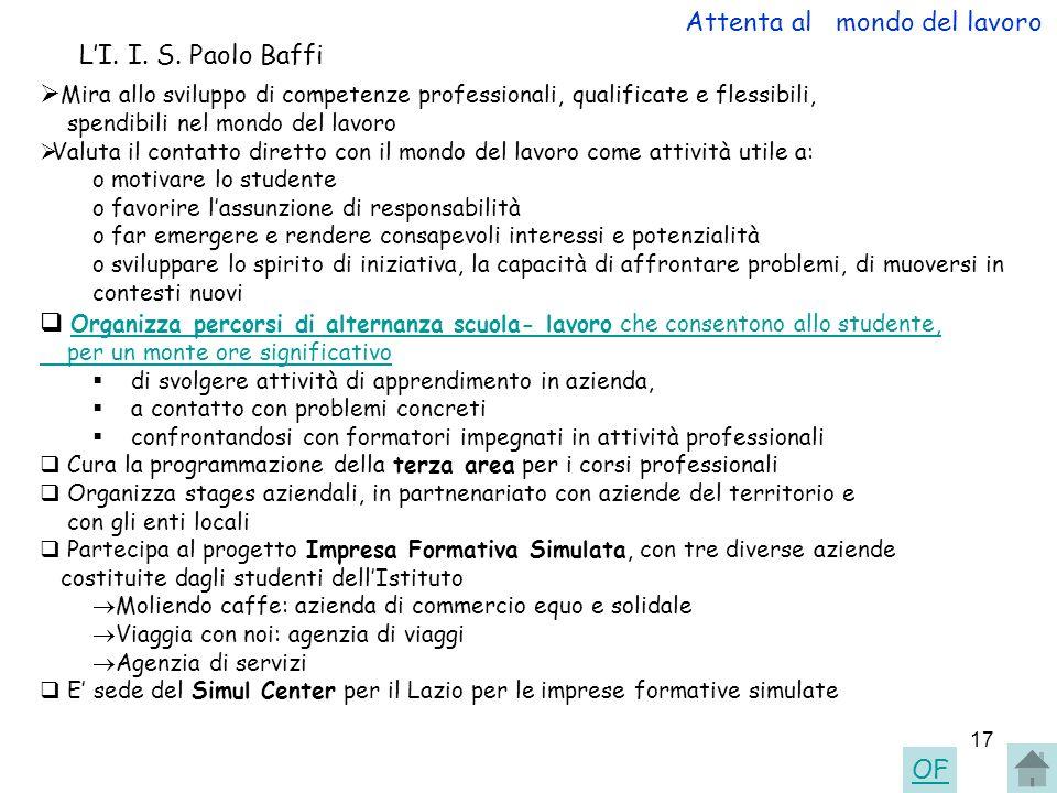 Attenta al mondo del lavoro L'I. I. S. Paolo Baffi