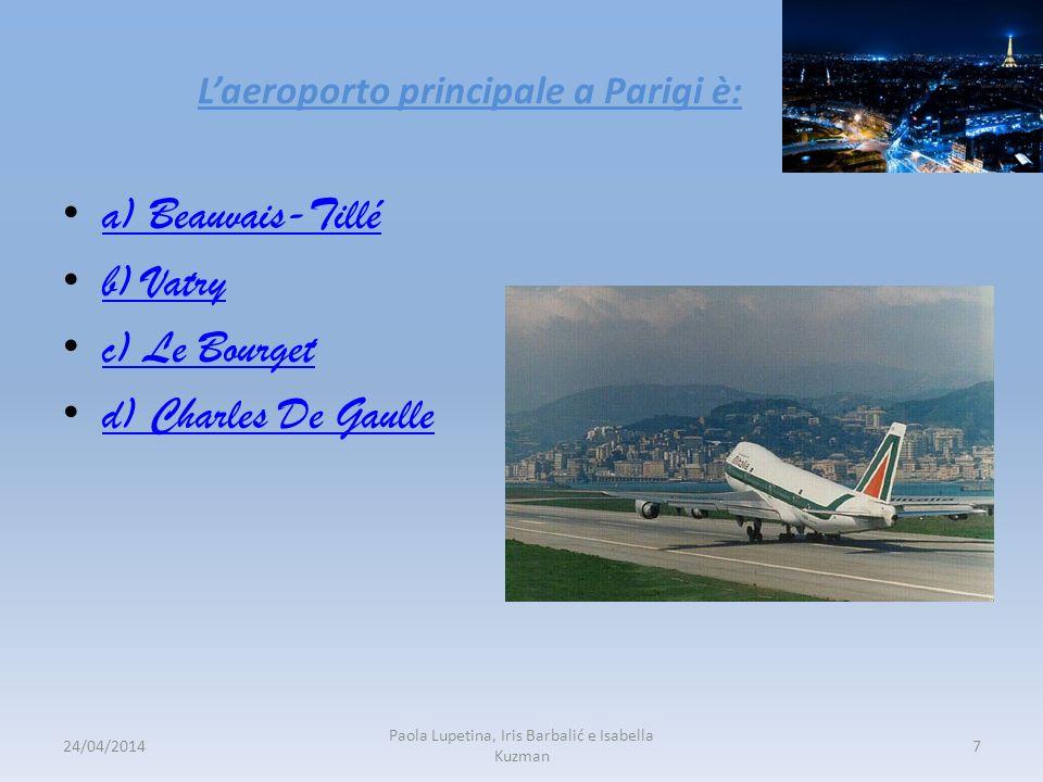 L'aeroporto principale a Parigi è: