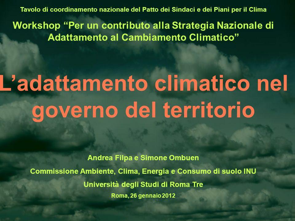 L'adattamento climatico nel governo del territorio