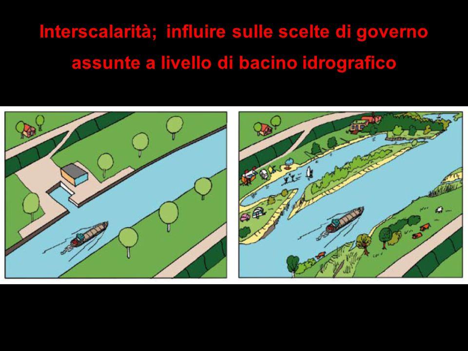 Interscalarità; influire sulle scelte di governo assunte a livello di bacino idrografico
