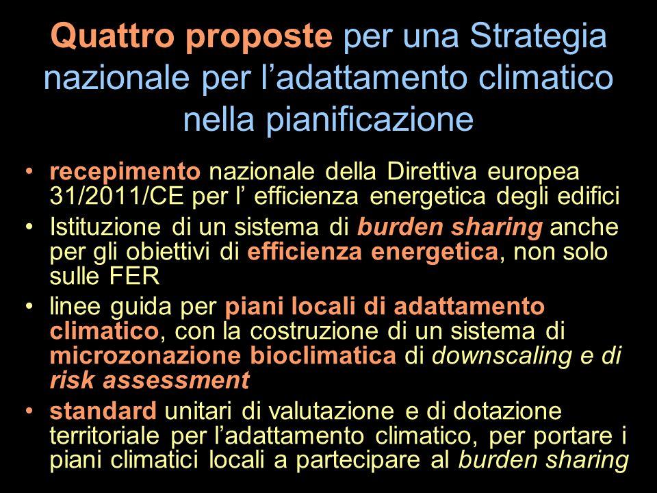 Quattro proposte per una Strategia nazionale per l'adattamento climatico nella pianificazione