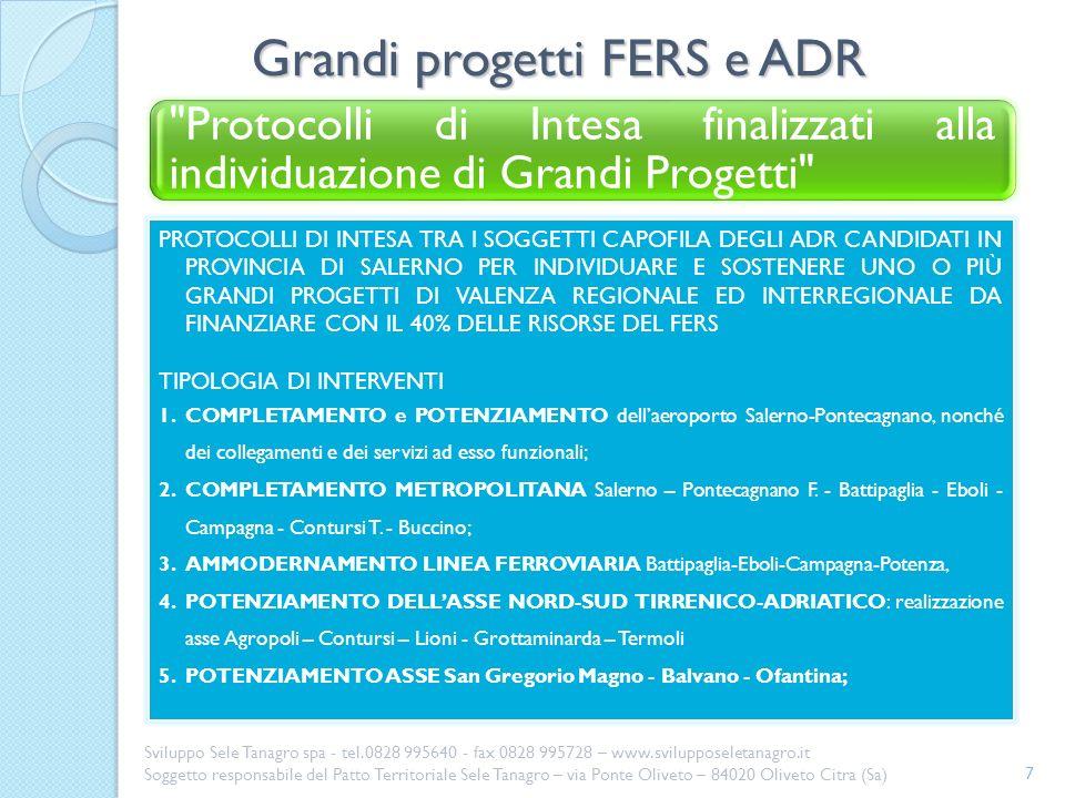 Grandi progetti FERS e ADR