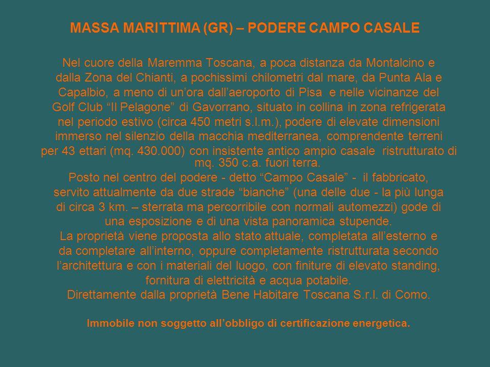 MASSA MARITTIMA (GR) – PODERE CAMPO CASALE