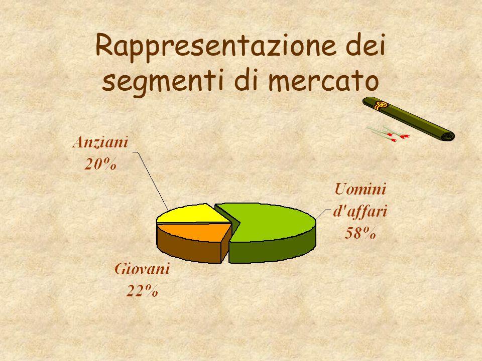 Rappresentazione dei segmenti di mercato