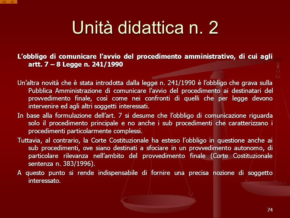 Unità didattica n. 2