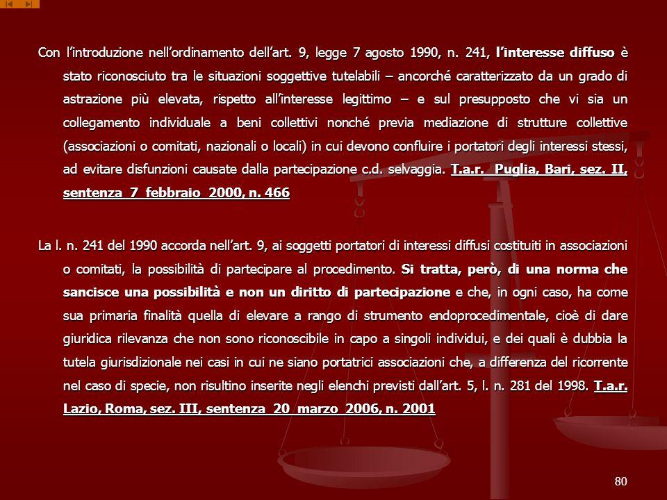 Con l'introduzione nell'ordinamento dell'art. 9, legge 7 agosto 1990, n.