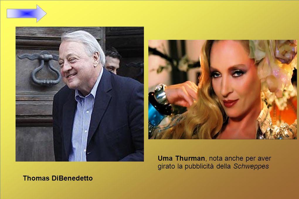Uma Thurman, nota anche per aver girato la pubblicità della Schweppes