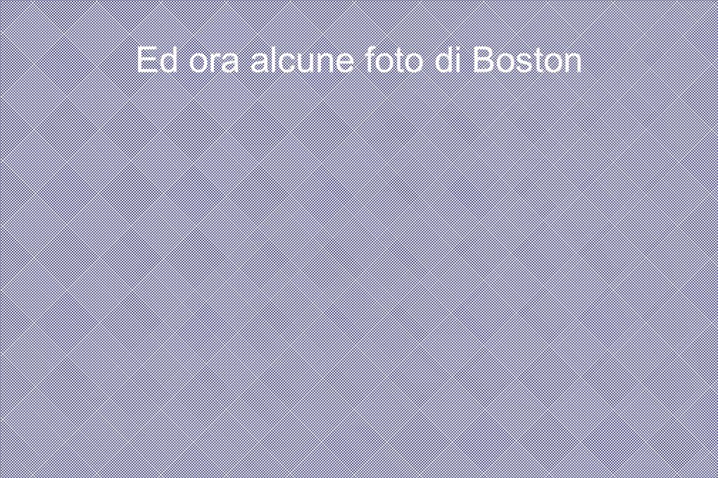 Ed ora alcune foto di Boston