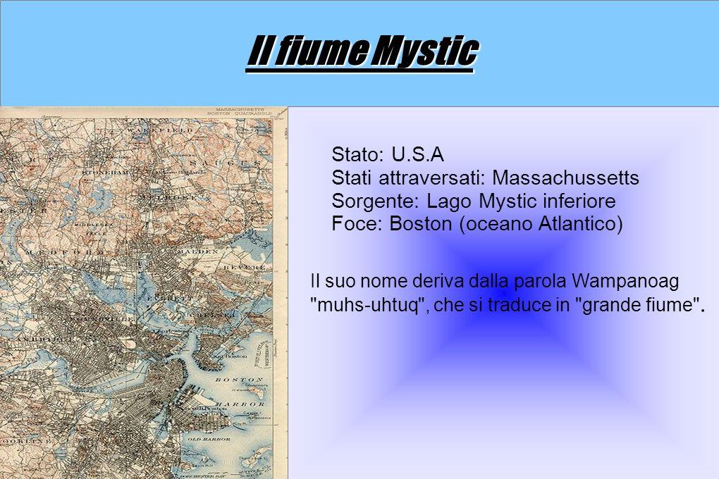 Il fiume Mystic Stato: U.S.A Stati attraversati: Massachussetts
