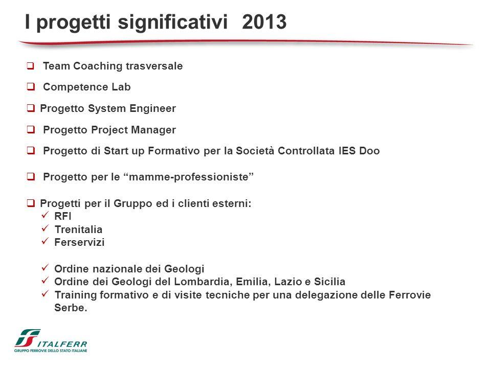 I progetti significativi 2013