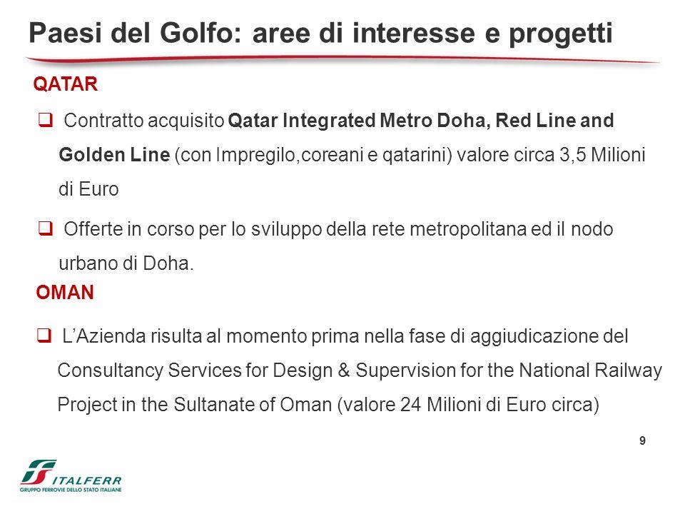 Paesi del Golfo: aree di interesse e progetti