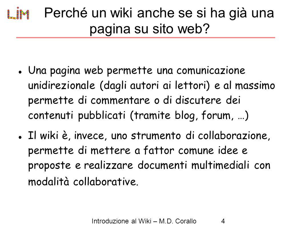 Perché un wiki anche se si ha già una pagina su sito web