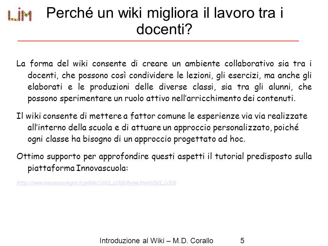 Perché un wiki migliora il lavoro tra i docenti
