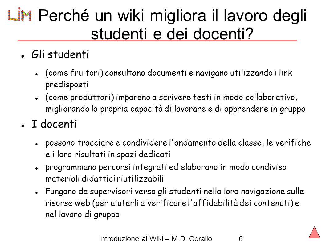 Perché un wiki migliora il lavoro degli studenti e dei docenti
