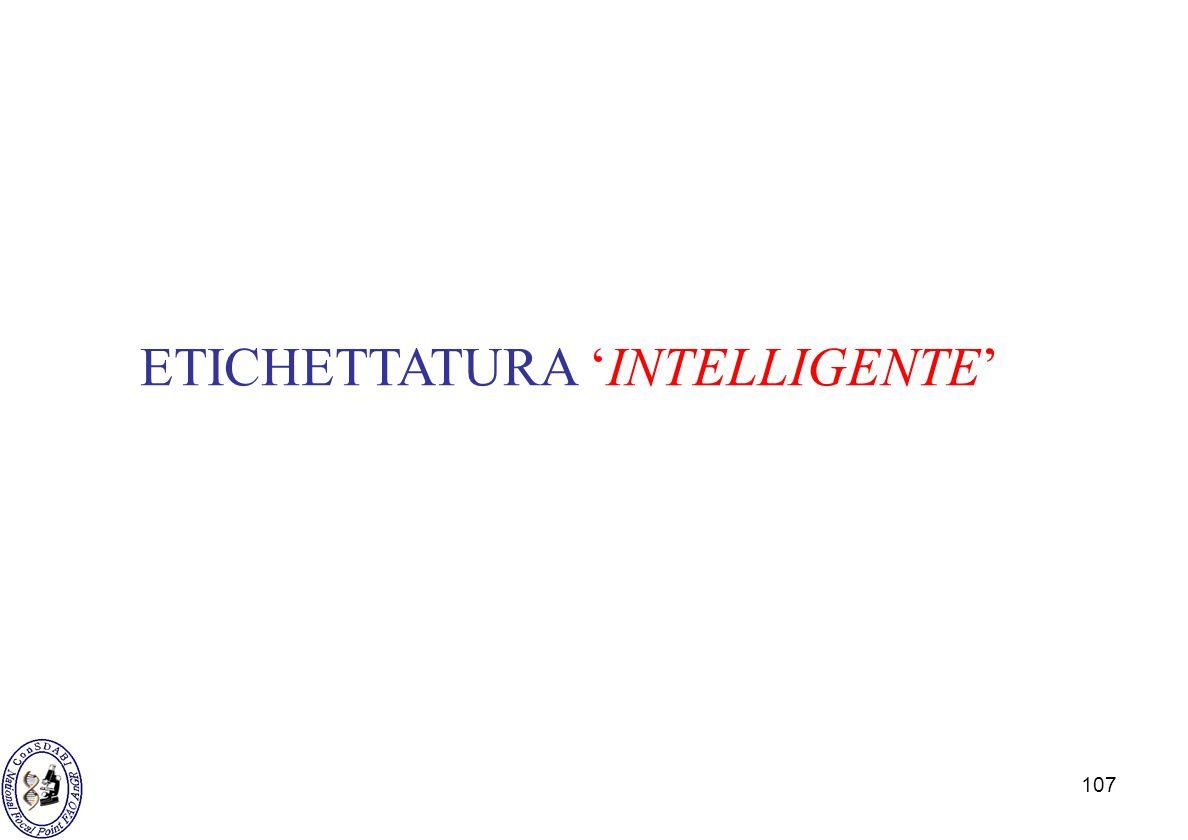 ETICHETTATURA 'INTELLIGENTE'