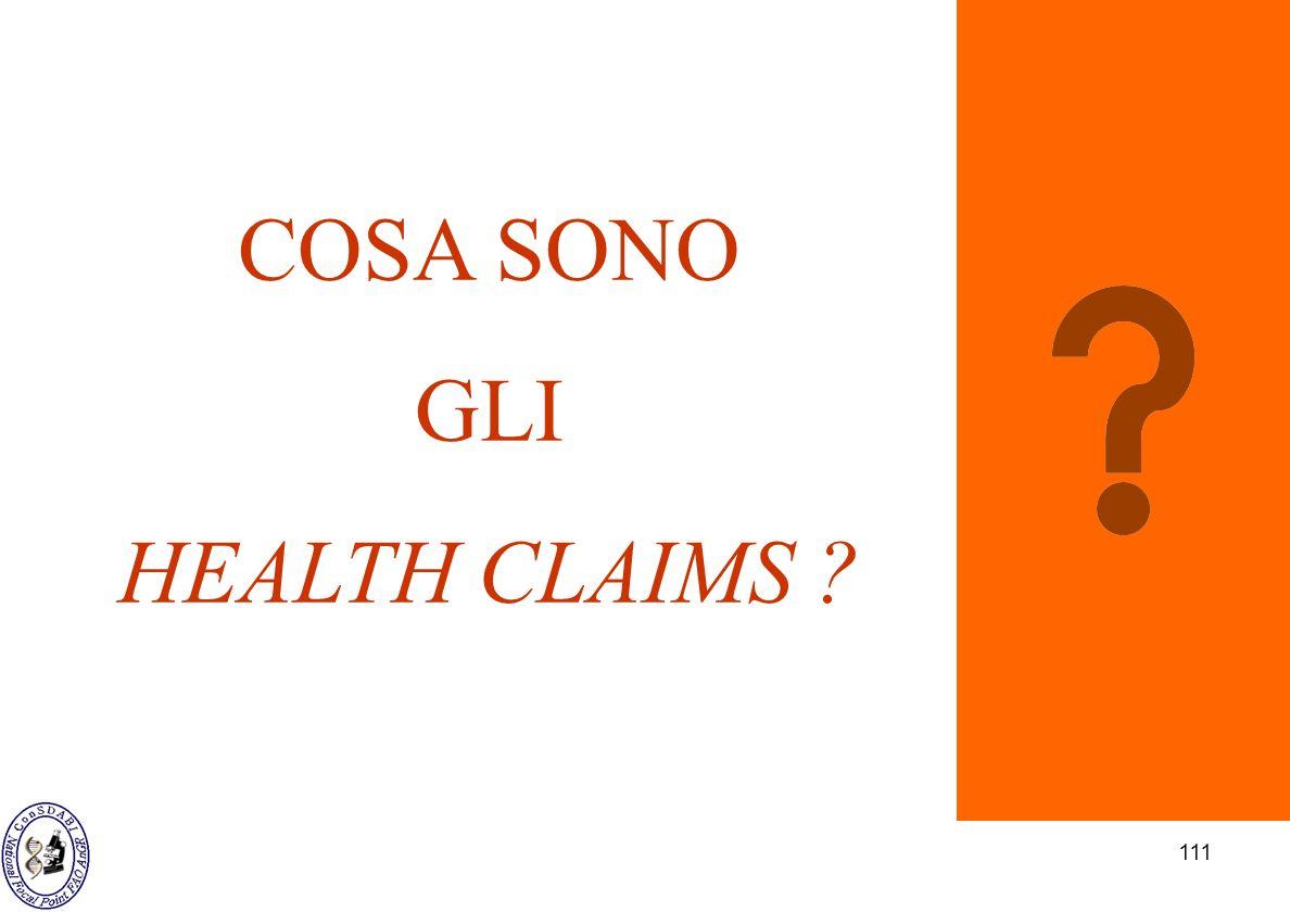 COSA SONO GLI HEALTH CLAIMS