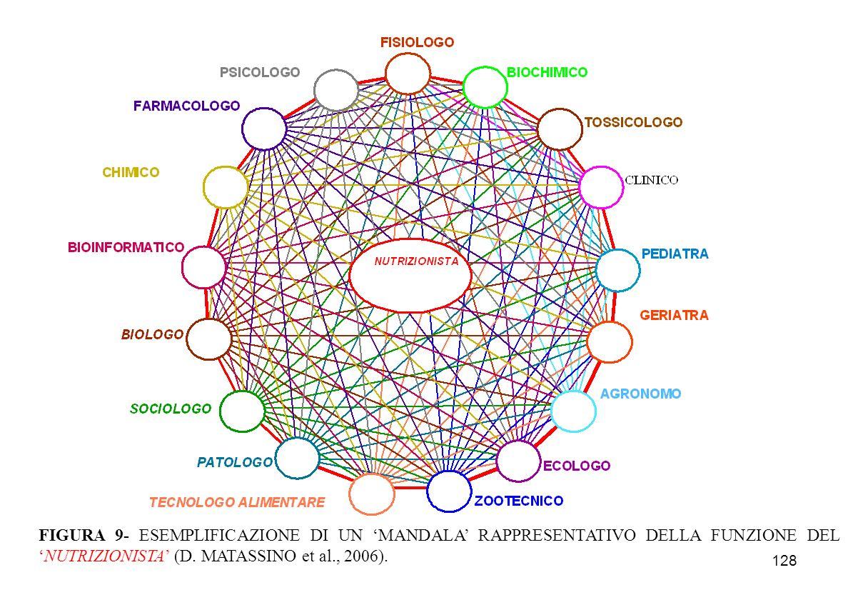 FIGURA 9- ESEMPLIFICAZIONE DI UN 'MANDALA' RAPPRESENTATIVO DELLA FUNZIONE DEL 'NUTRIZIONISTA' (D.