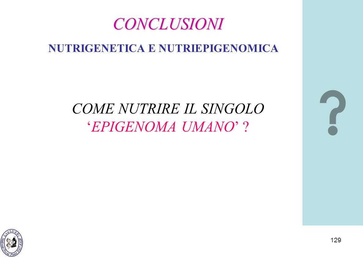 NUTRIGENETICA E NUTRIEPIGENOMICA