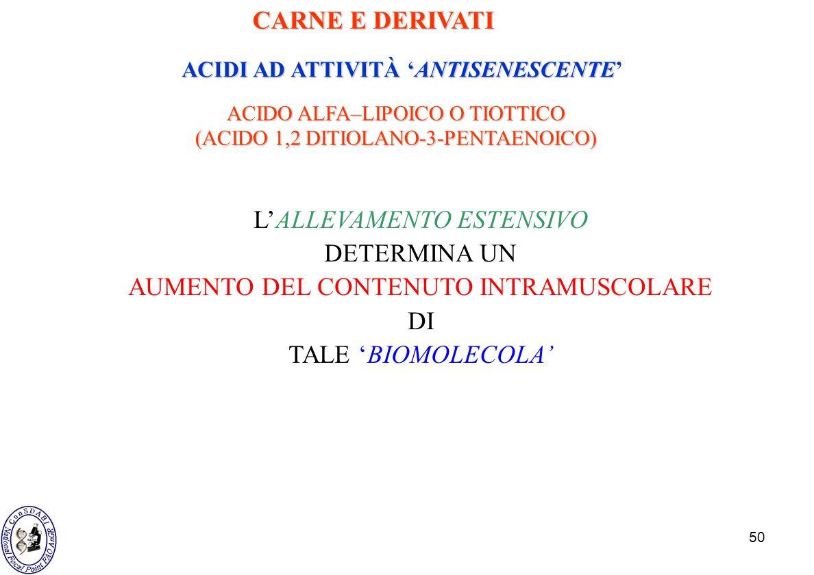 ACIDI AD ATTIVITÀ 'ANTISENESCENTE'