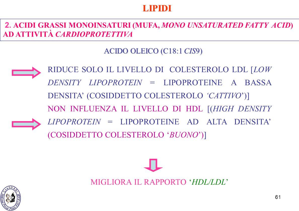 MIGLIORA IL RAPPORTO 'HDL/LDL'