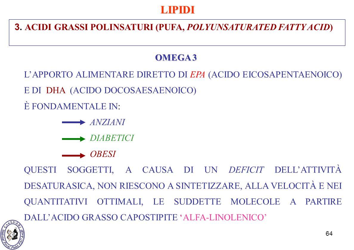 LIPIDI 3. ACIDI GRASSI POLINSATURI (PUFA, POLYUNSATURATED FATTY ACID)