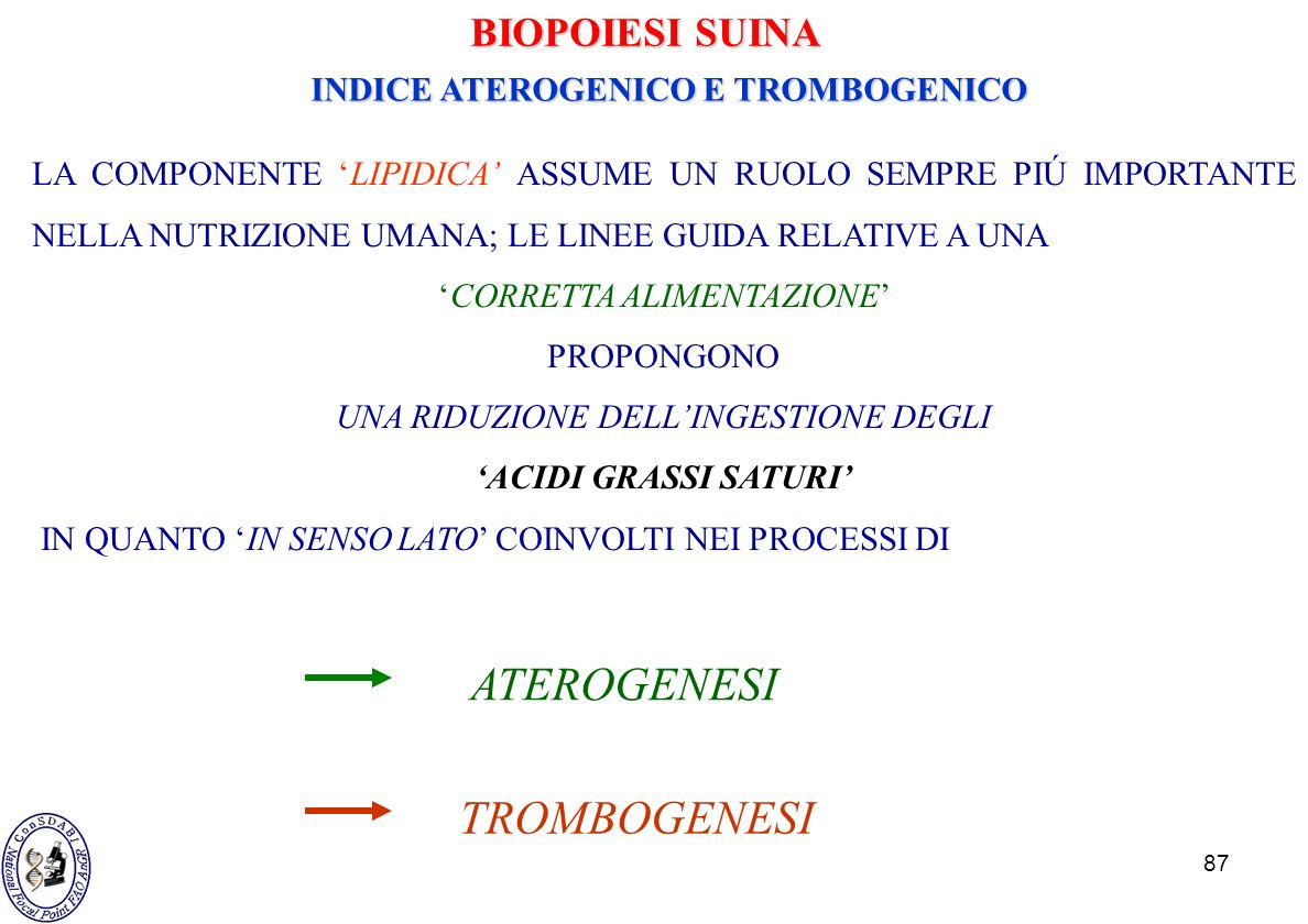 INDICE ATEROGENICO E TROMBOGENICO