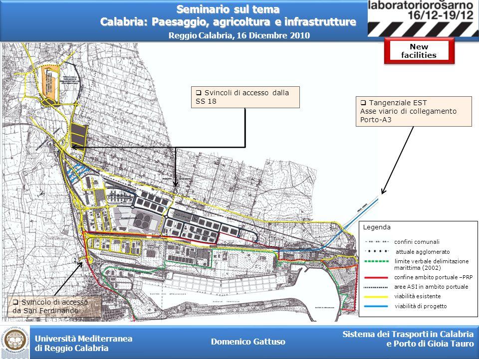 New facilities Svincoli di accesso dalla SS 18 Tangenziale EST