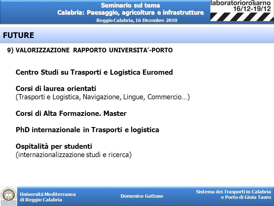 FUTURE Centro Studi su Trasporti e Logistica Euromed