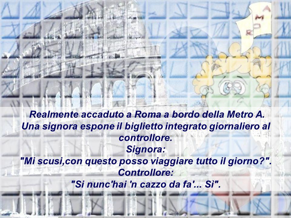 Realmente accaduto a Roma a bordo della Metro A.