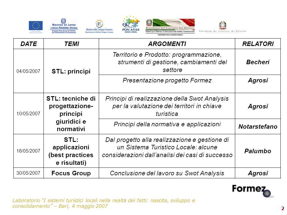 Presentazione progetto Formez Agrosì