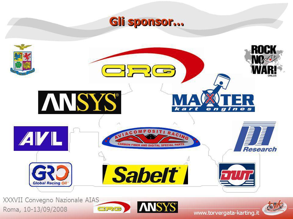 Gli sponsor… XXXVII Convegno Nazionale AIAS Roma, 10-13/09/2008