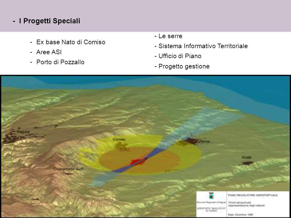 - I Progetti Speciali Le serre Sistema Informativo Territoriale