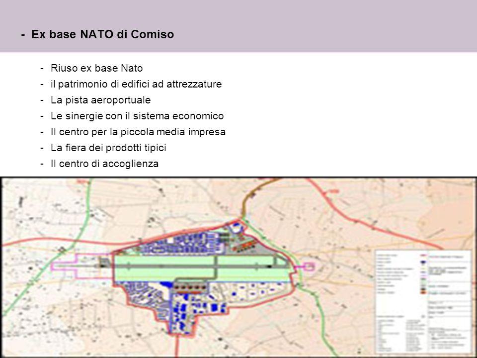 - Ex base NATO di Comiso Riuso ex base Nato