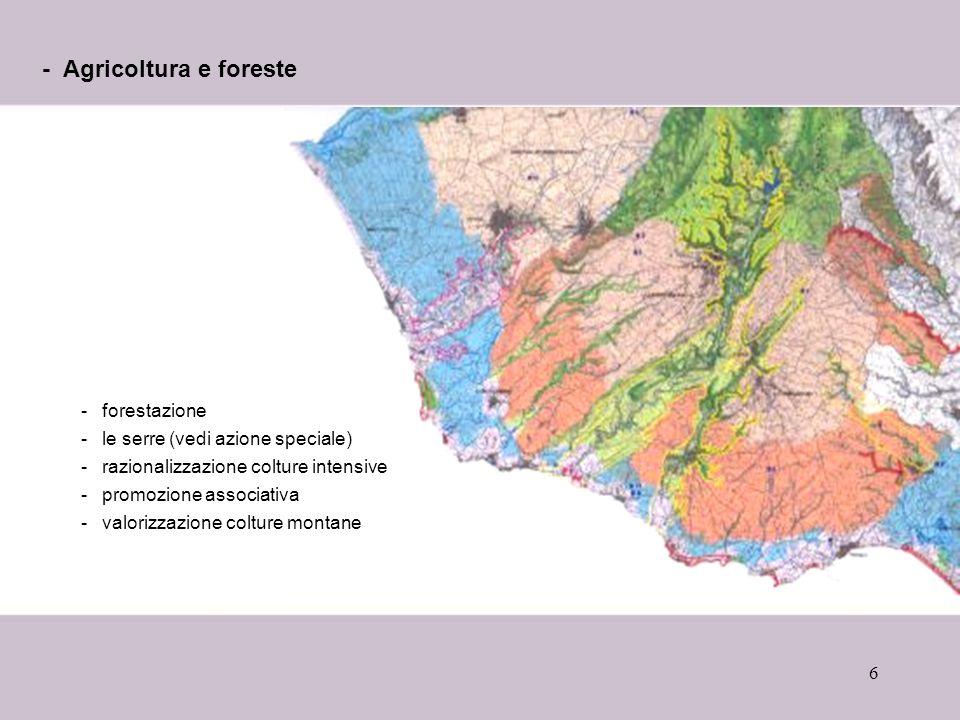 - Agricoltura e foreste