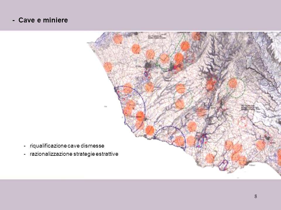 - Cave e miniere riqualificazione cave dismesse