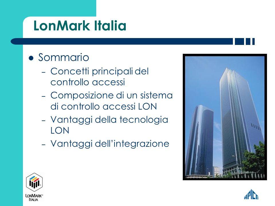 LonMark Italia Sommario Concetti principali del controllo accessi